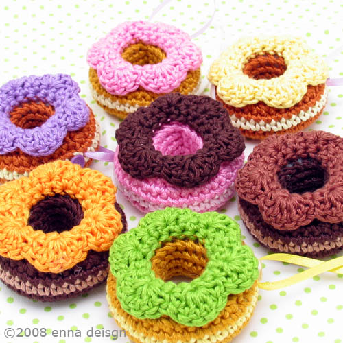 Amigurumi Donut : Amigurumi Donut ornaments available at my Etsy shop ...
