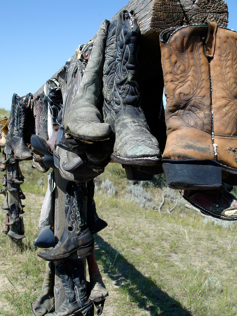 cowboy boots the cowboy boots were still hanging around