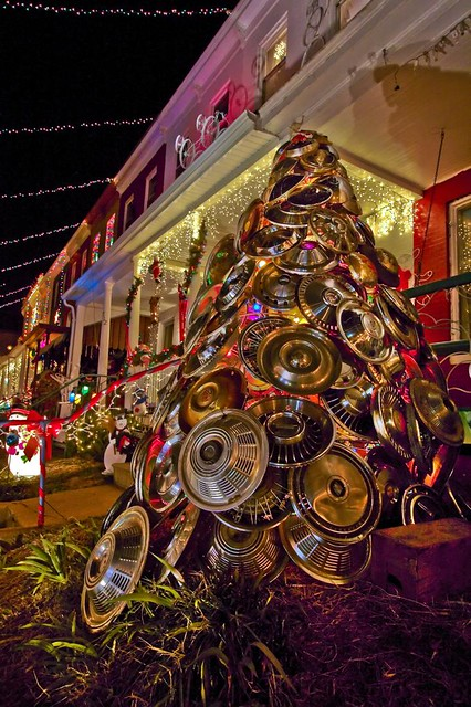 Hubcap Christmas Tree 34th Street Baltimore Better