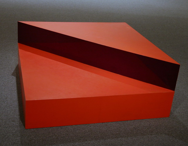 D Exhibition Art : Untitled oil on wood with plexiglas by donald judd