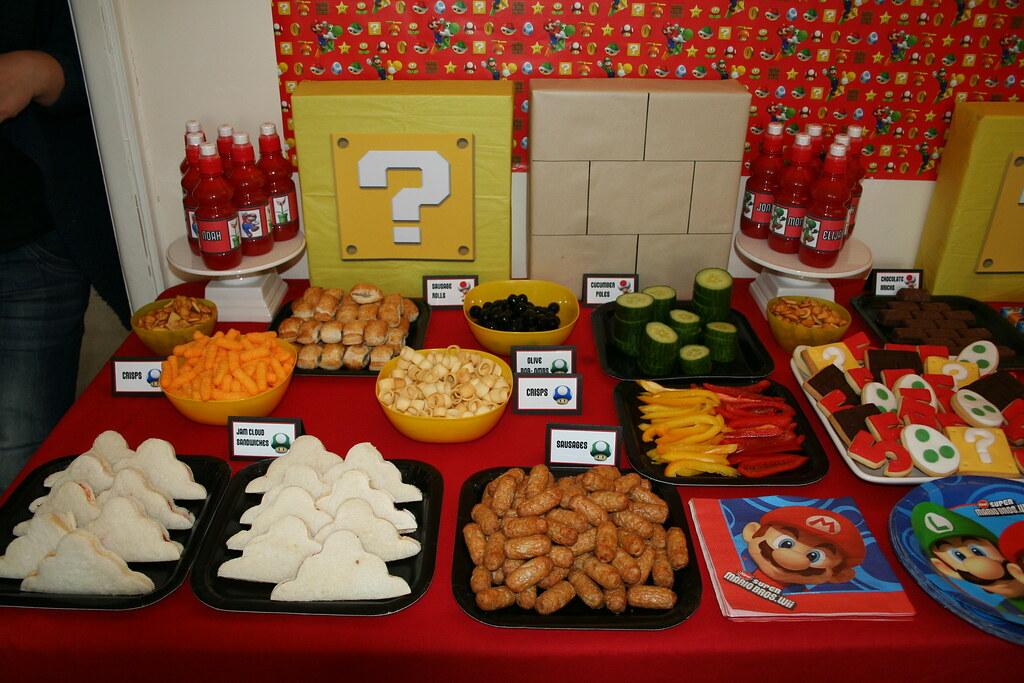 Mario Birthday Party Food Ideas