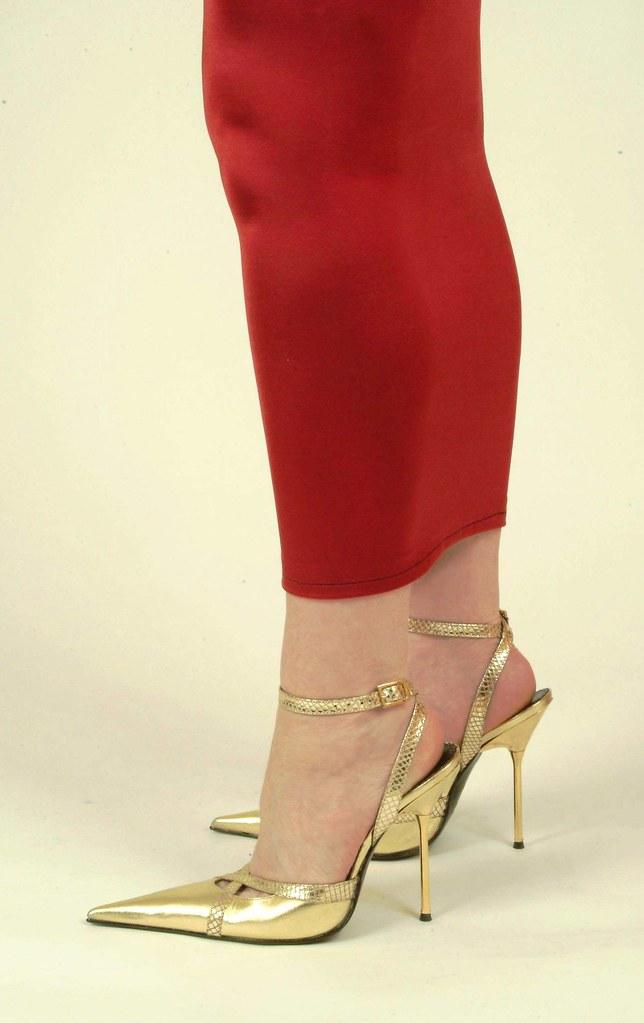 sarah of rosa in high heeled gold sandals rosa shoes. Black Bedroom Furniture Sets. Home Design Ideas