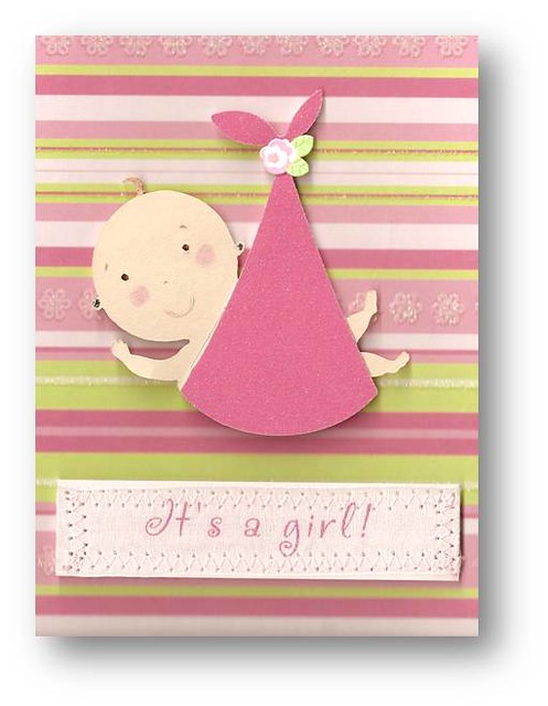 Welcome Baby Girl Card | Handmade greeting card by D' Luxe D… | Flickr