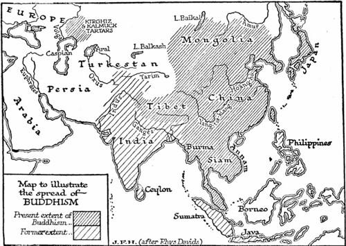 map buddhism
