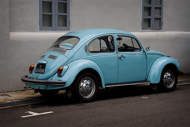 baby blue VW beetle bug II | lash tan | Flickr