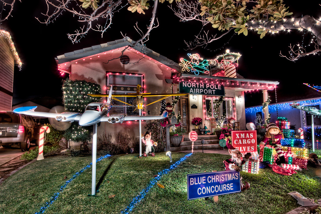 Candy Cane Lane House Decorated As The North Pole
