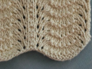 Lace Dishcloth Knitting Pattern : Dishcloth with wave lace pattern for swap2 Closer look on ? Flickr