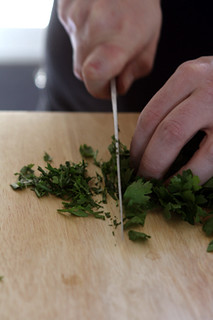 chopping parsley for Tabbouleh | by David Lebovitz