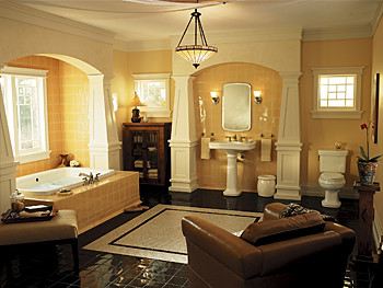 Classic bathroom design a classic bathroom design with for Arredamento casa classico