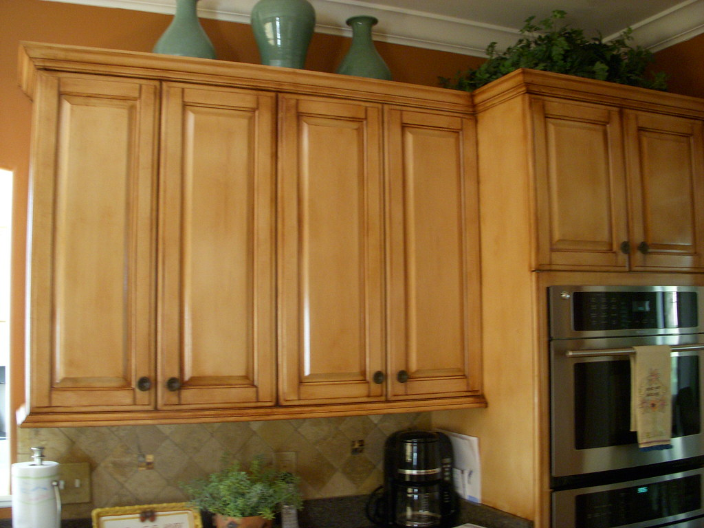 Glazed cabinets umber glaze over pickled oak cabinets for White pickled kitchen cabinets