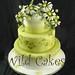 lazy daisies wedding cake