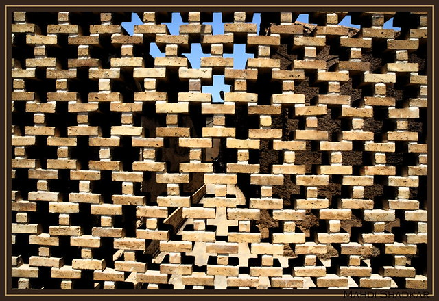 Persian ornamentations Transparent wall in bricks Flickr