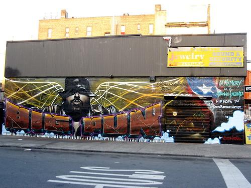 Big pun memorial wall 2009 flickr photo sharing for Big pun mural bronx