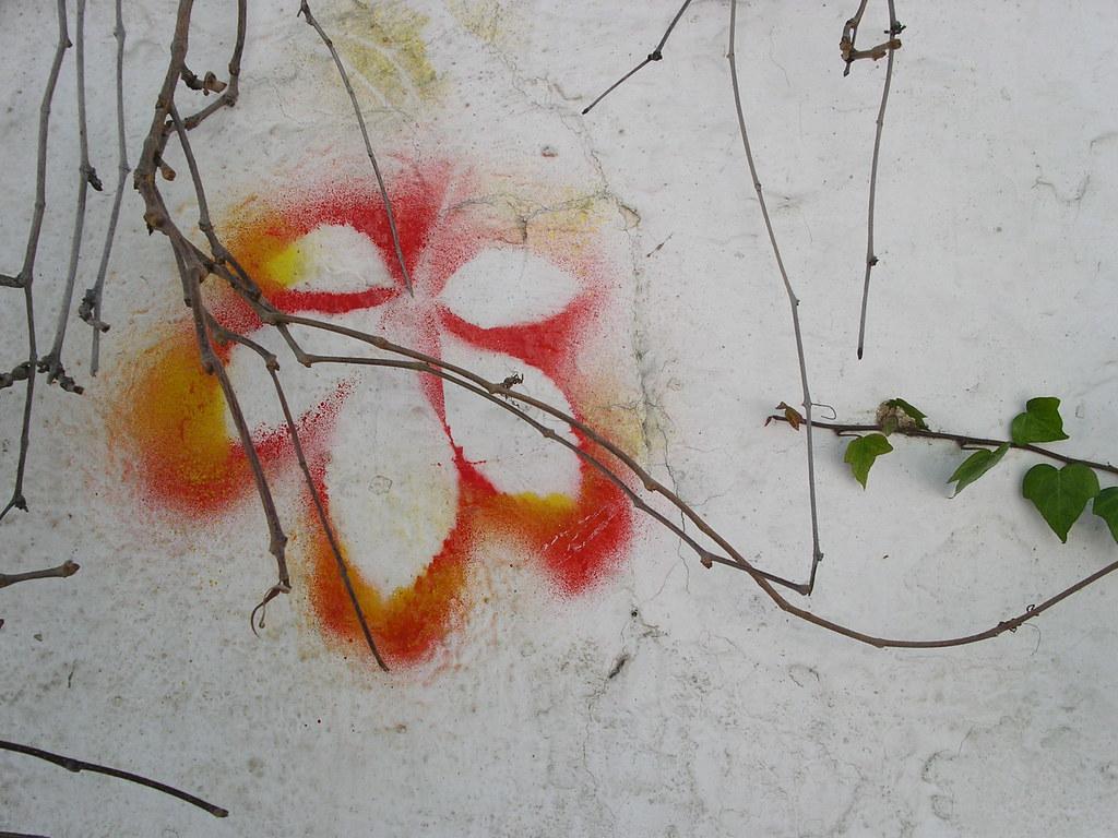 Historia de una hoja pintada en la pared kukumismelo - Cabeceras pintadas en la pared ...
