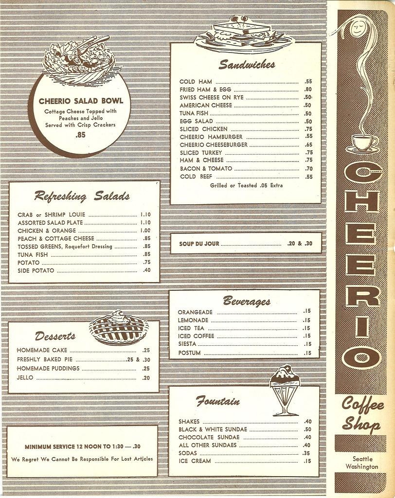 Circa Restaurant Menu