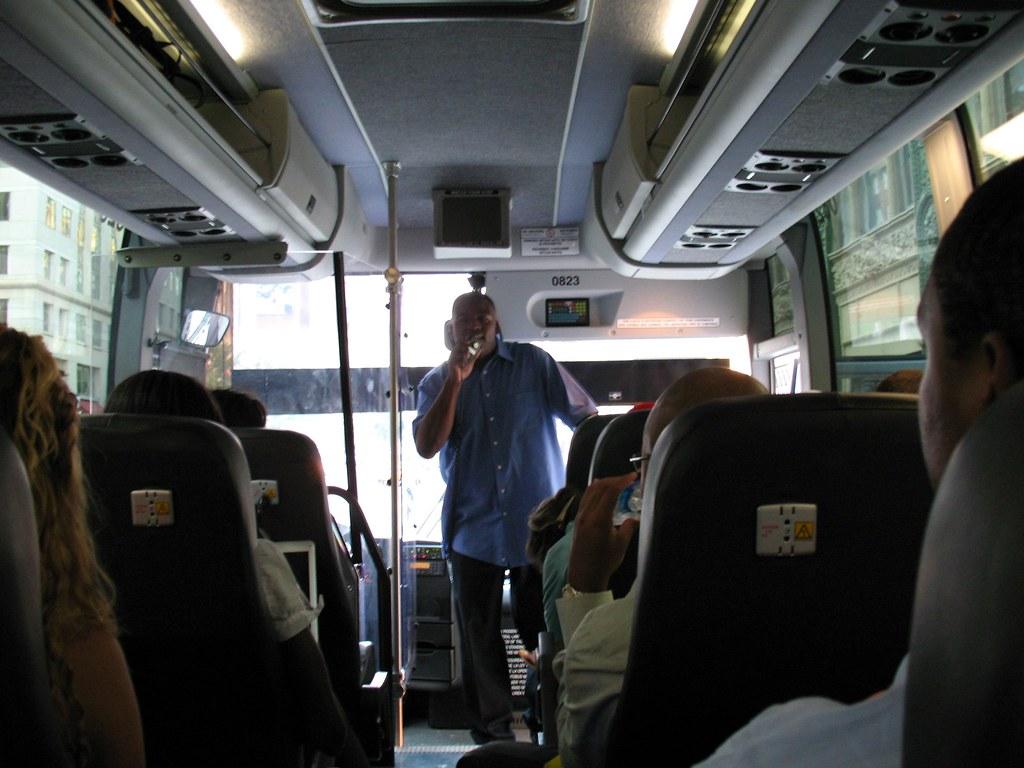 Bolt Bus Interior The Bolt Bus Driver Giving Us A Quick