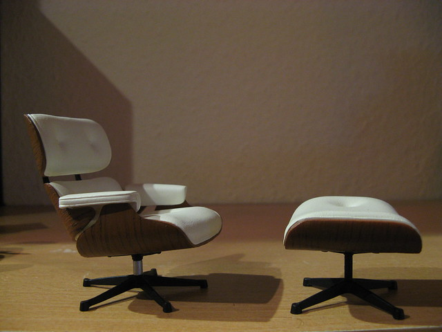 Eames lounge chair miniature flickr photo sharing for Mini eames lounge chair