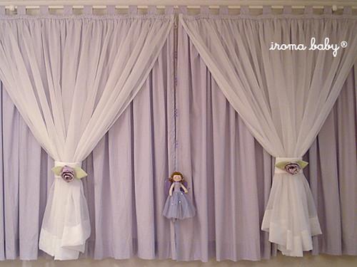 Cortina para quarto de bebê  Cortina dupla com pingente da …  Flickr
