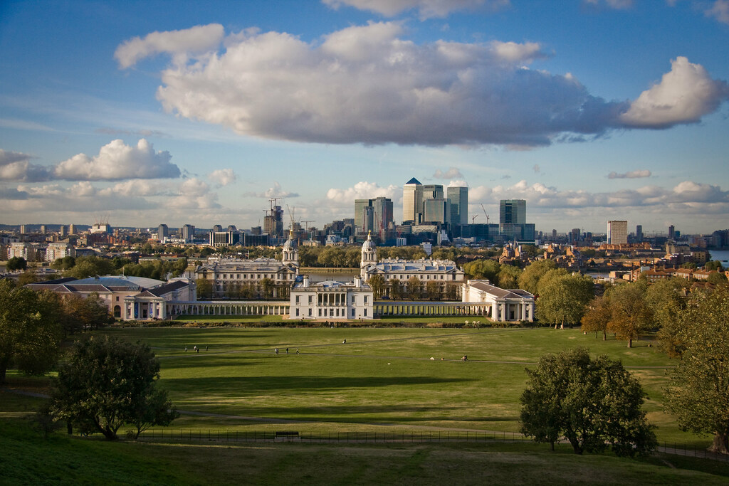 View From Greenwich Observatory Looking Out Over The