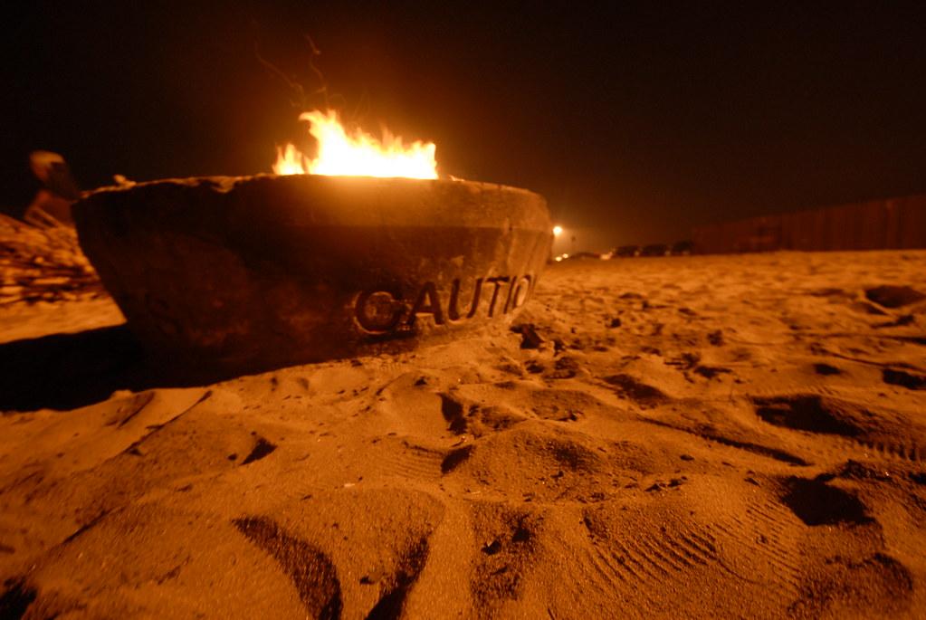 Beach bonfire | Last night at Huntington Beach. | QsySue ...