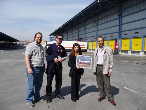 Visita Iberia Cargo. Con nuestros anfitriones