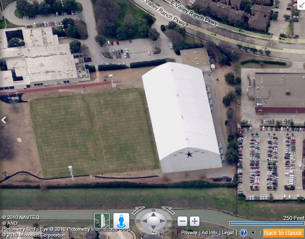 Dallas Cowboys Training Facility in Bing Maps | The Dallas C… | Flickr