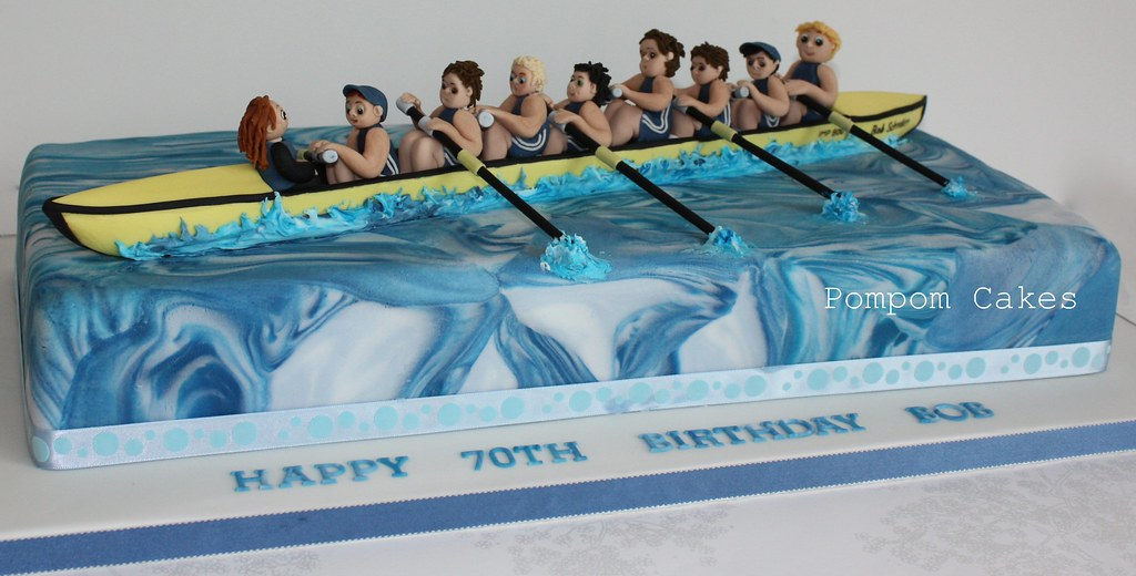 Rowing Gently Down The Stream A Huge 70th Birthday Cake