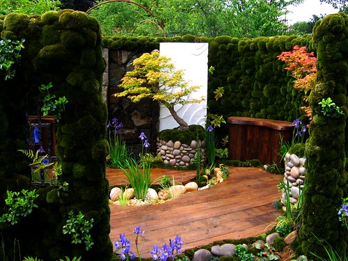 The japanese moss garden at the 2007 chelsea flower show for Jardin zen exterior
