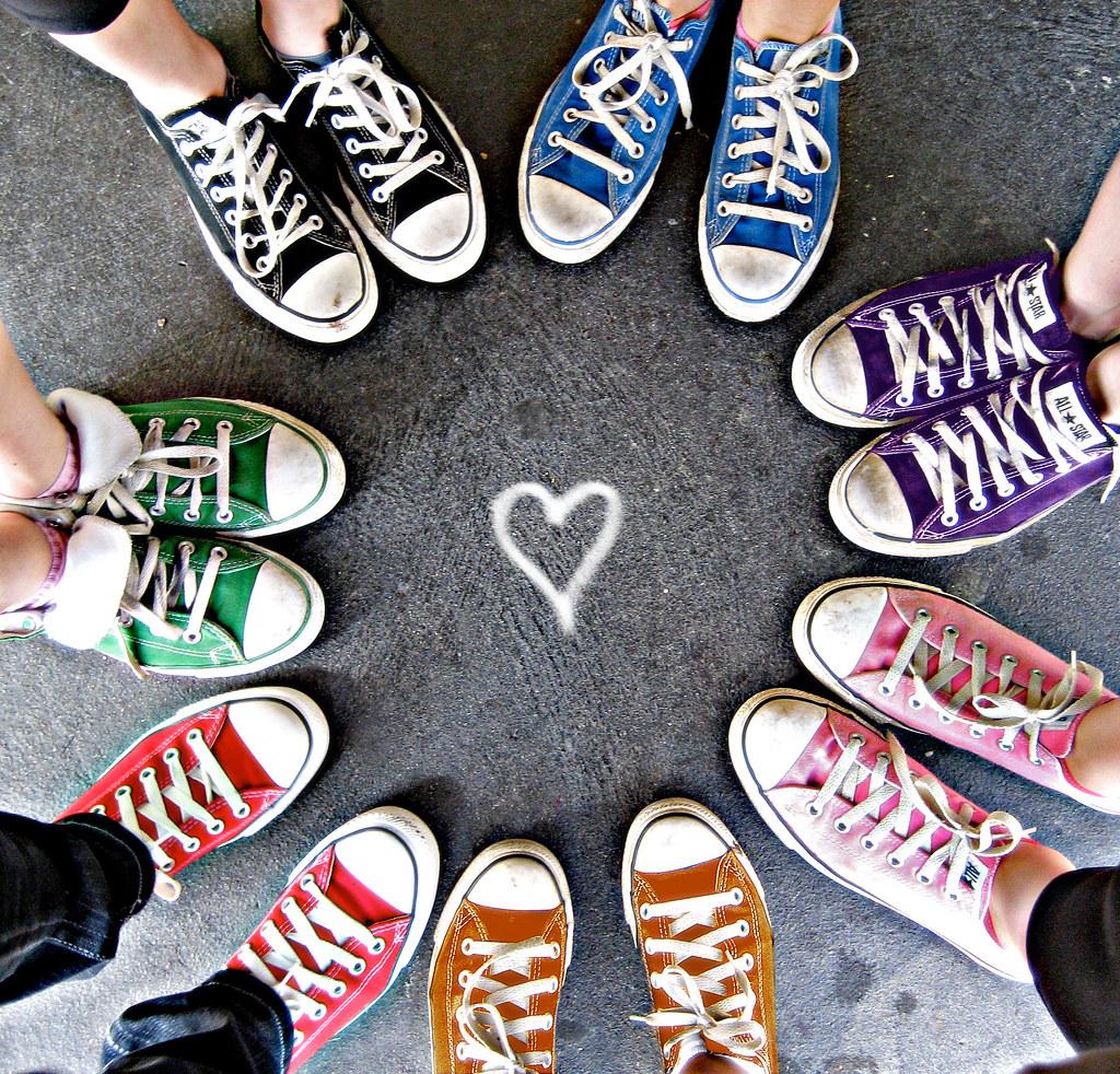 Rainbow Converse Circle Rainbow Converse Redux