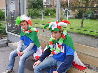 Italian Fans waiting for the Tram | by -= Treviño =-