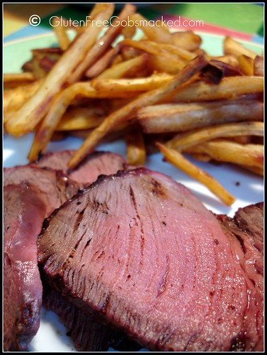 Parsnip Fries & Grilled Tenderloin | by Kate Chan