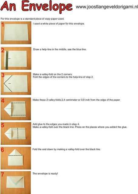 Origami Envelope Diagrams