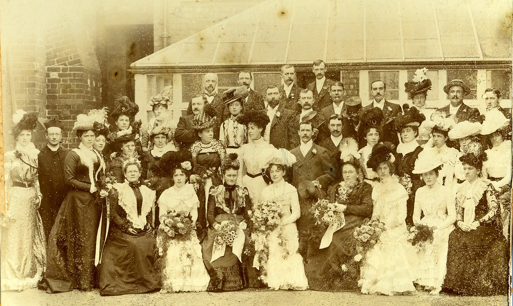 Wedding Party C 1900 Notes Probably From The Edwardian