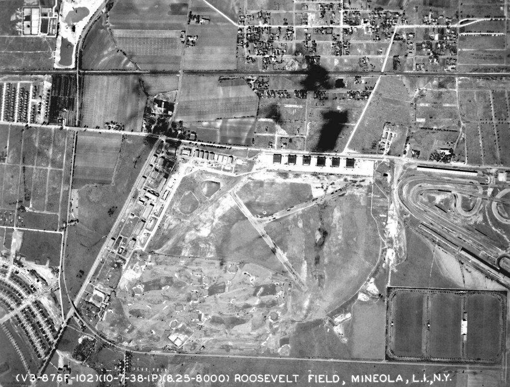 garden state parkway sign coloring pages | Aerial view, 1938 Roosevelt Raceway | Racetrack right ...