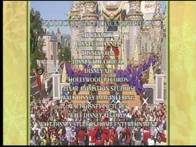 end credits walt disney world christmas day parade special 2008 25th anniversary by