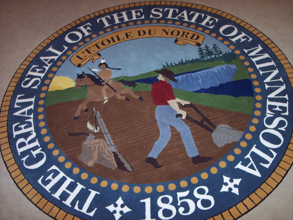 mn state seal on the floor of room 15 at the state capitol flickr