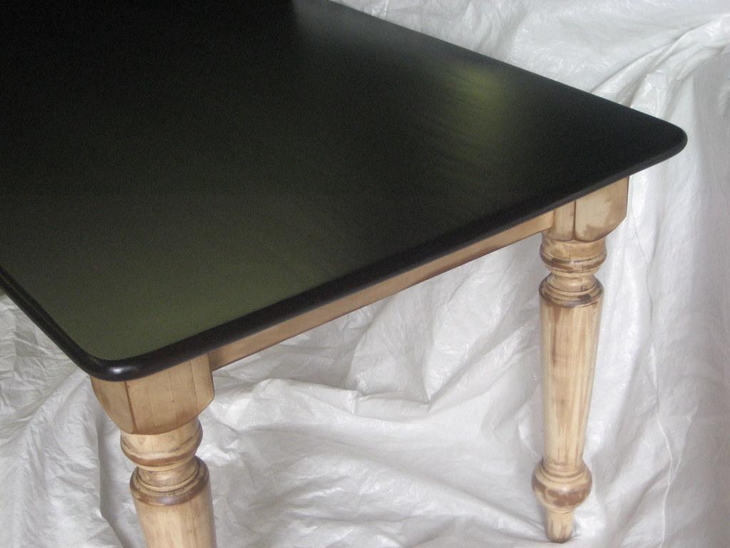 White Oak Tabletop -Glazed Dark
