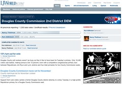 Douglas County Comission 2nd District Democratic primary section | by postneo
