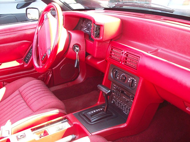 1989 Ford Mustang Convertible w/ Beautiful Red Interior ...