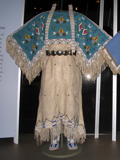 yankton dakota sioux twohide pattern dress with fully b