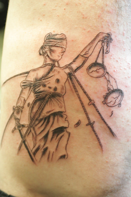And Justice For All Tattoo Done By Joey Eyebrows At Bull Flickr