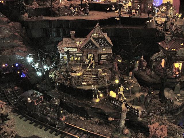 department 56 halloween village display by department 56