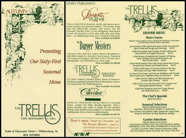 ephemera trellis restaurant menu jassy 50 flickr