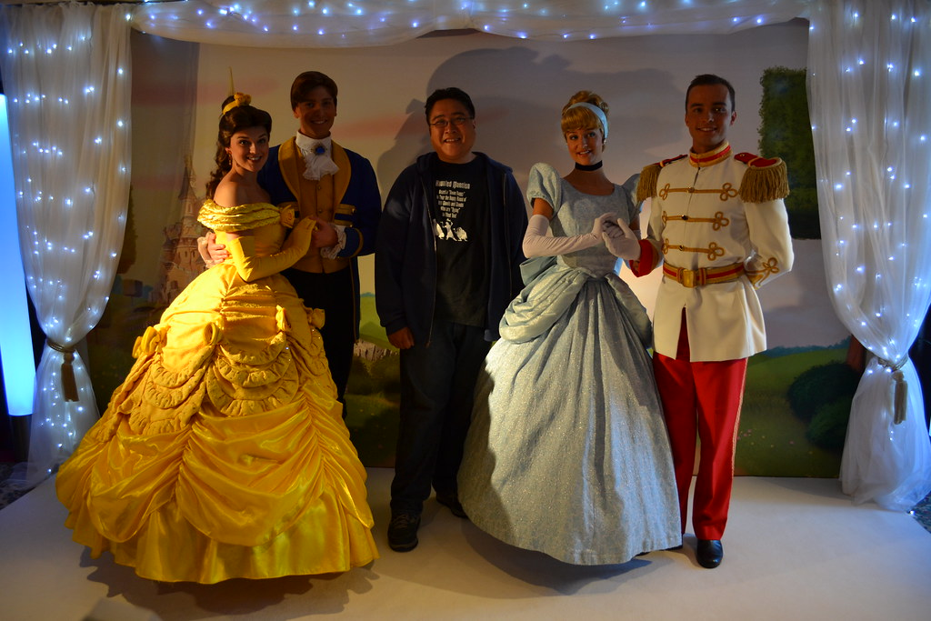 Meeting Belle, Prince Adam, Cinderella and Prince Charming ...