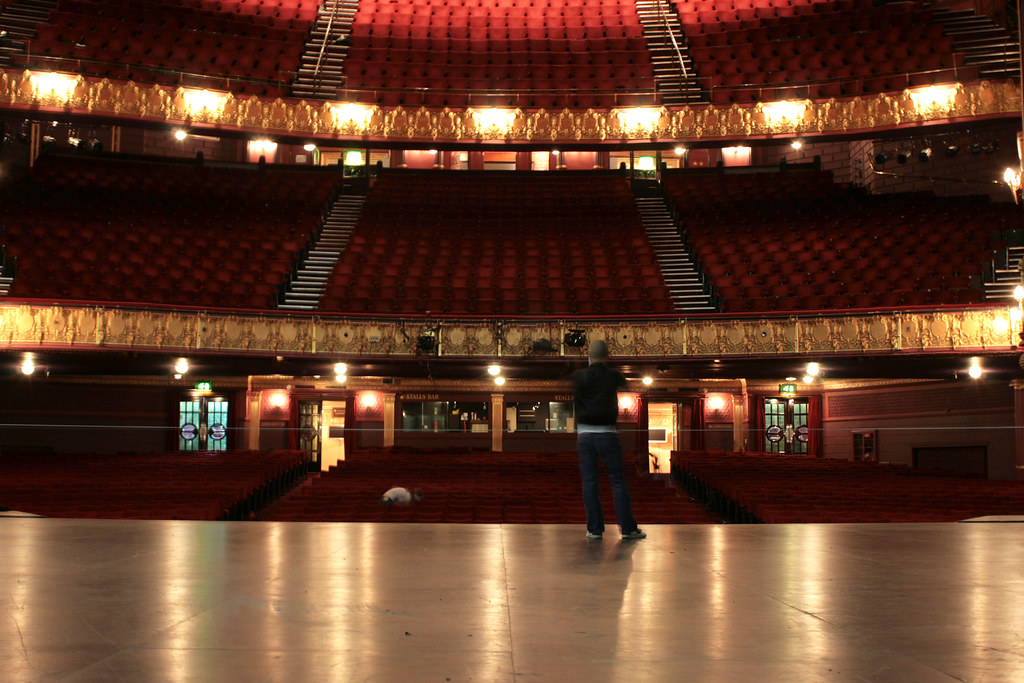 palace theatre stage at the palace theatre in