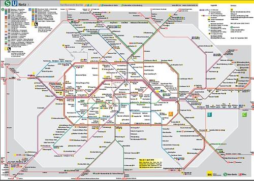 BERLIN TUBE MAP | berlin cunstom font, designed over the ber ...