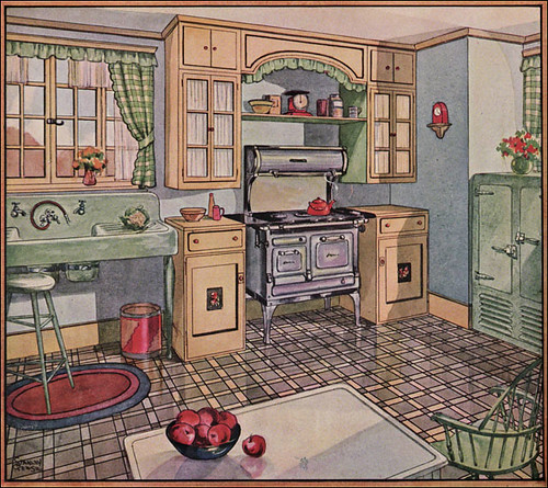 1928 kitchen in american home here 39 s my new favorite kitch flickr - Vintage looking home decor gallery ...