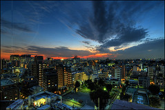 Sunset from our flat; Minami-oi, Tokyo | by Alfie | Japanorama