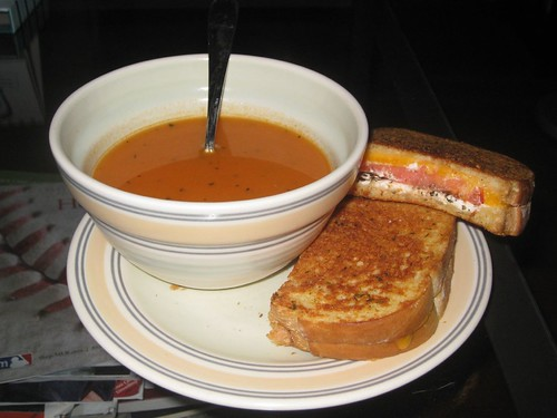 Tomato Soup and Grilled Cheese... The Perfect Remedy for the Common Cold | by BluEyedA73