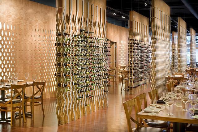 Circa restaurant wine racks six architecture